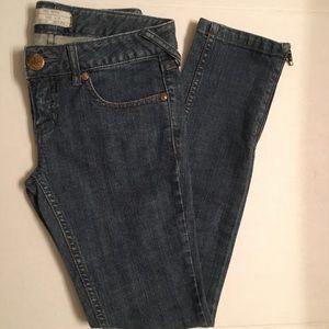 Free People Ankle Zip Skinny Denim Jeans